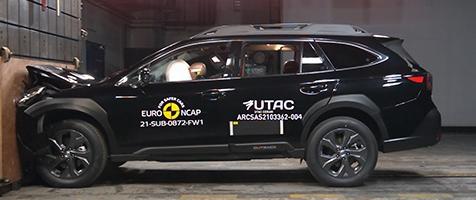 A vadonatúj Subaru Outback a legjobb eredményt érte el a 2021-es Euro NCAP biztonsági teszten