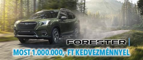 Forester e-BOXER modellek 1.000.000,- Ft kedvezménnyel