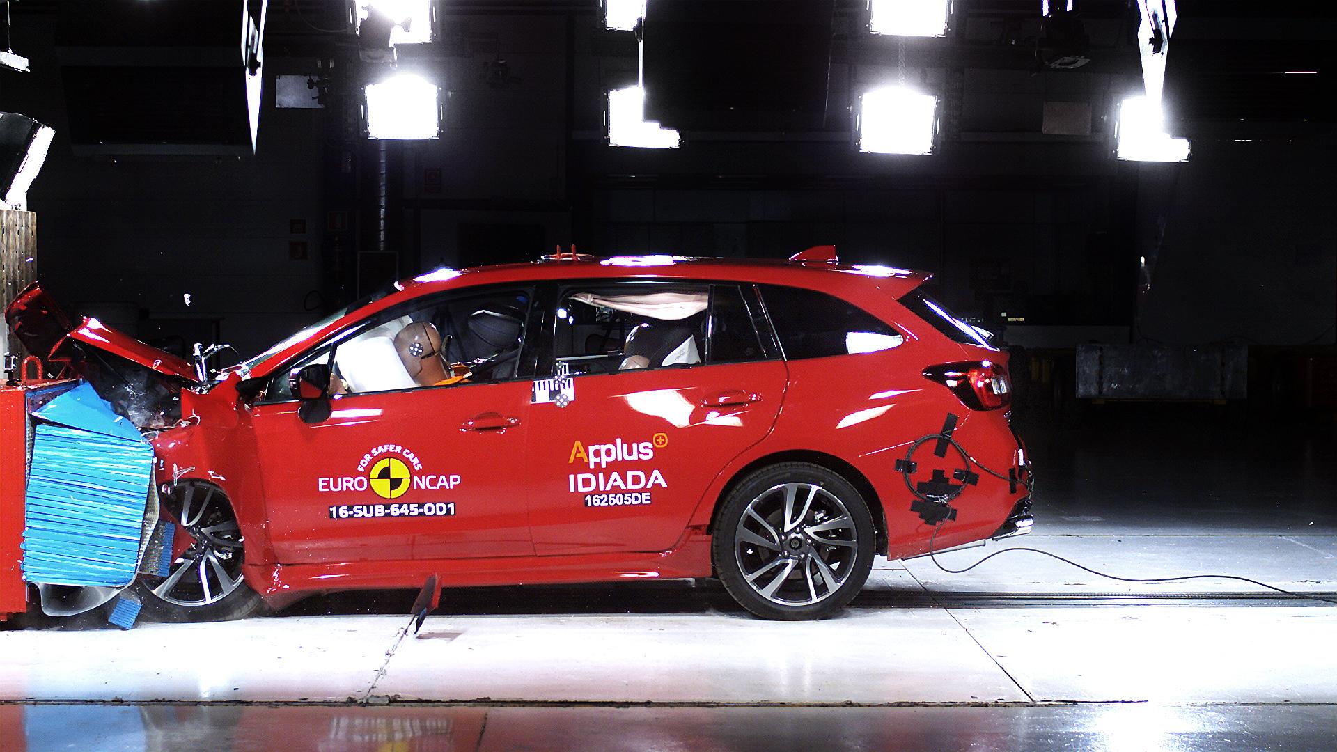 Euro NCAP törésteszt a Levorg modellen (európai specifikáció)