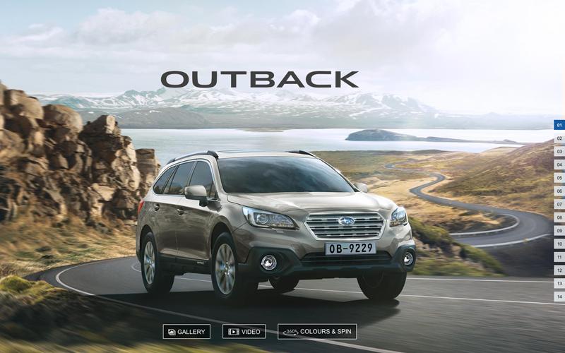 Subaru Outback Microsite