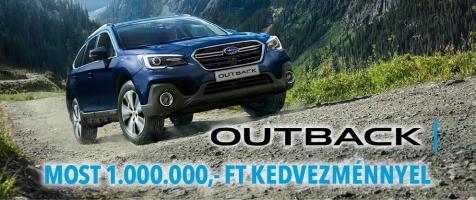 2020-as Outback modellek 1.000.000,- Ft kedvezménnyel