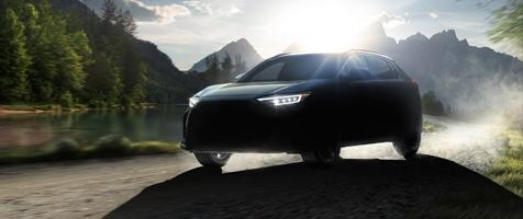 """A SUBARU a """"SOLTERRA"""" nevet adta új, teljes egészében elektromos meghajtású SUV modelljének"""