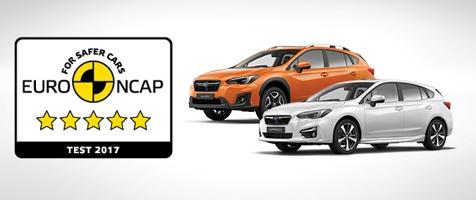 A vadonatúj Subaru XV és Impreza maximális, ötcsillagos értékelést kaptak az Euro NCAP 2017-es töréstesztjén