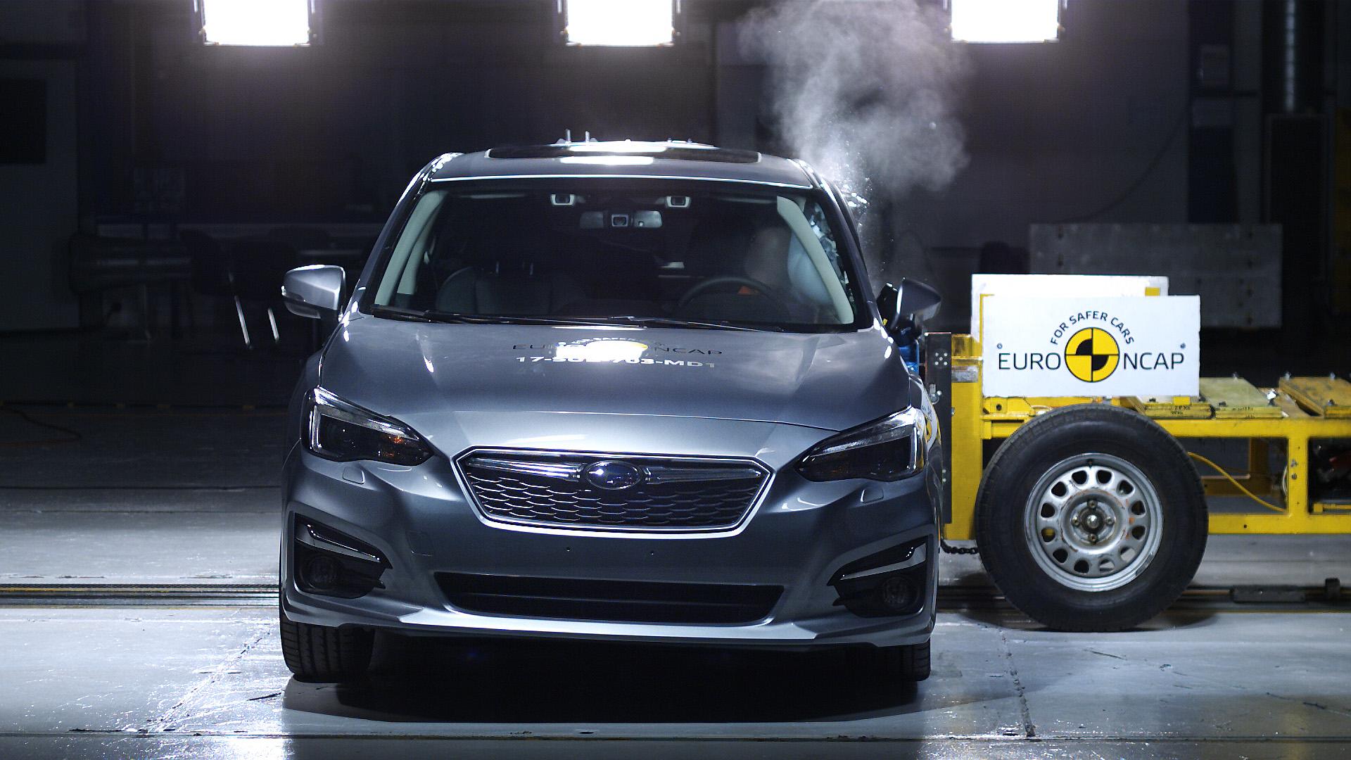 Az Impreza modell Euro NCAP töréstesztje (európai specifikáció)